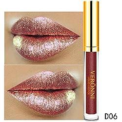AMUSTER Rouge à lèvres 10 couleurs féminines Flash flash à clapet à lèvres rouge à lèvres matte perle à lèvres brillant (F)