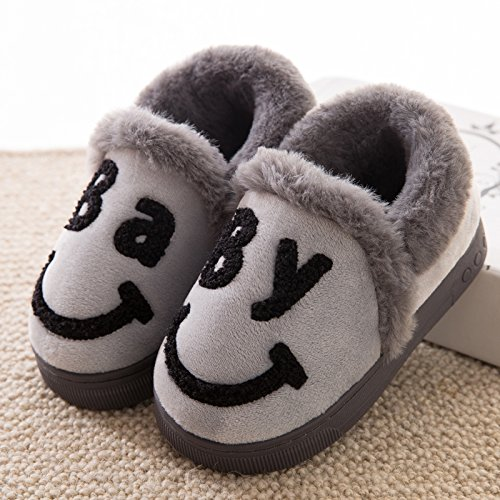 DogHaccd pantofole,Il cotone pantofole borsette con coppie di inverno di spessore inverno inverno pantofole di peluche home maschio carino antiscivolo scarpe caldo All-inclusive grigio