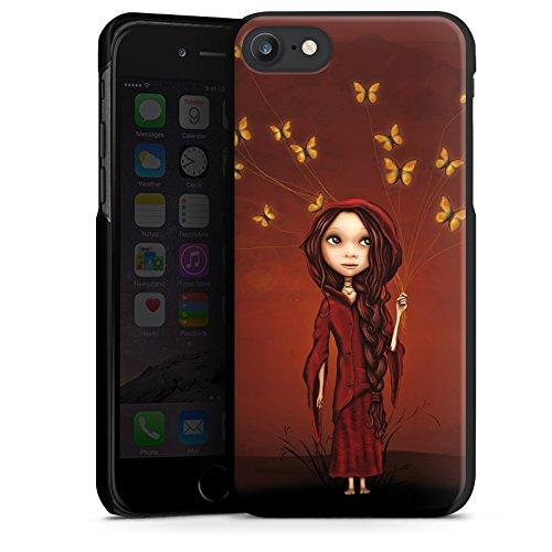 Apple iPhone X Silikon Hülle Case Schutzhülle Schmetterlinge Mädchen Traumwelt Hard Case schwarz