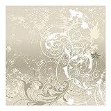 Vliestapete–Perlmutt Ornament Design–Wandbild quadratisch