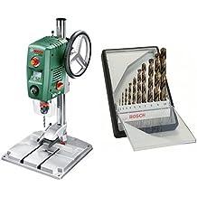 Bosch - PBD 40 - Taladro de columna + Juego de bs para metal Robust Line HSS-Co