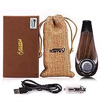KAMRY Sigaretta Elettronica Tubo Mini Corpo Stile di Moda, 35W 1000mAh Ricaricabile Enorme Vapore Legno Classico E-pipe Con Pacchetto Regalo, Nicotina Libera (Nero)