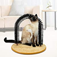 ‏‪Decdeal Cat Self Massager Cats Arch Self Groomer Scratcher Toy Brush Cat Scratching Pad‬‏