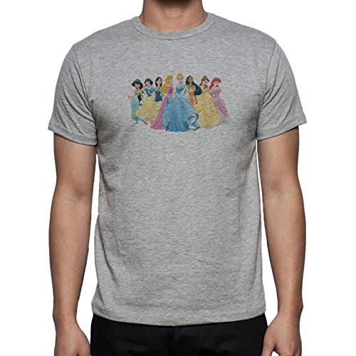 All Disney Princess Cartoon Godess Look Like Herren T-Shirt Grau