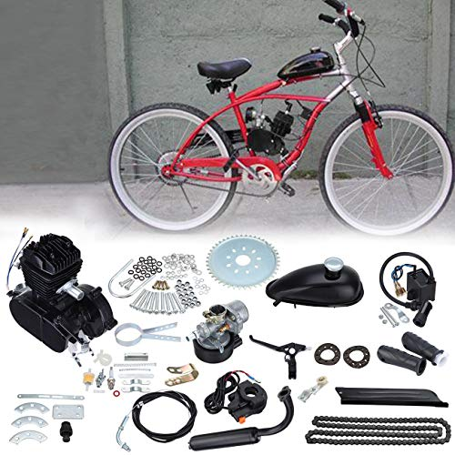 Samger Samger 2 Tempi Kit Motore di Conversione per Bici (Nero, 50CC)