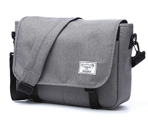 Damen Leinwand Handtasche Damen Casual Arbeitstasche Wasserdichte Schultertasche Messenger Bags,Grey-S