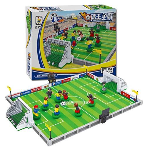 Laurelmartina Kits de construcción de Modelos compatibles con Lego City  Football 3D Blocks Juguetes educativos Modelo be6f377ac39d