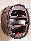 Scaffale vini Botte-vino per 18 bottiglie marrone Bar Porta...