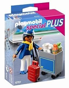 Playmobil  4761 - Assistente di Volo con Carrello Portavivande