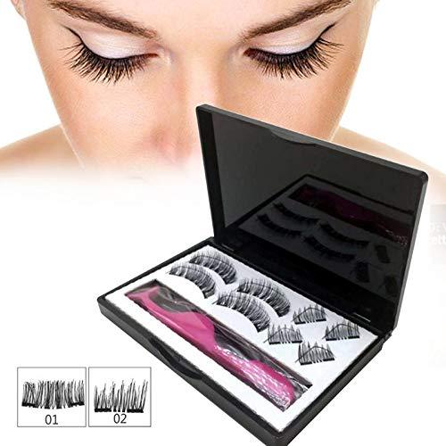 7182651fa70b 8pcs Magnetic Eyelashes with 3 Magnets Handmade 3D Magnetic Lashes Natural  False Eyelashes Magnet Lashes with Gift Box 40