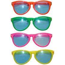 Nase Zirkus Kostüm Accessoire Spaßbrille Karneval gelb Riesen XXL Clown Brille