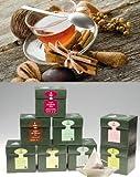 EILLES Periodo invernale Set degustazione Tea Diamonds con tazza in vetro e grande biscotto GOURVITA (set risparmio 6 scatole da 20 bustine di tè)