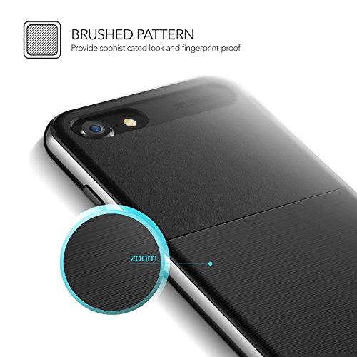iPhone 7 (2016)/iPhone 8 (2017), VRS Design® Coque [Argenté] coup festen pare-chocs TPU Bumper Case Housse Shell Coque avec support [New High Pro Shield] longue pour Apple iPhone anti-rayures 7/8 Metal Black