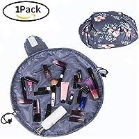 1pezzi Lazy coulisse borsa per il trucco con grande capacità Portable organizer portaoggetti per donne e ragazze viaggio cosmetici sacchetto