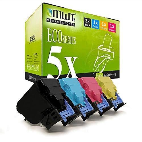 5X Kraft Office Supplies Toner für Konica Minolta Bizhub C 35 P ersetzt TNP22 Schwarz Blau Rot Gelb