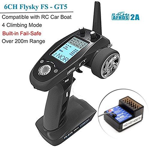 Flysky FS-GT5 6CH AFHDS RC Sender mit FS-BS6 Empfänger für RC Auto Boot -