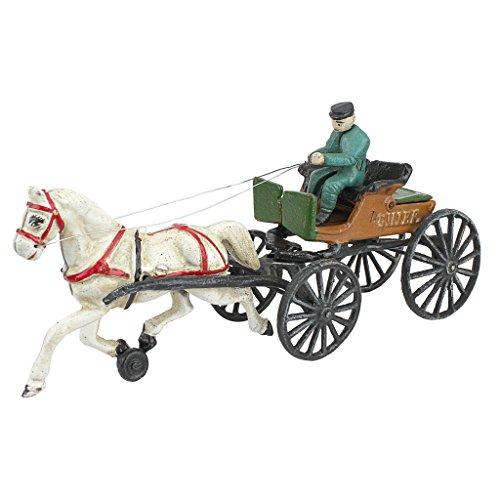 'Interpret Design Toscano Vintage Gusseisen Pferd Ziehen, Police Chief Patrol Wagon, mehrfarbig, 34,5x 9x 16,5cm