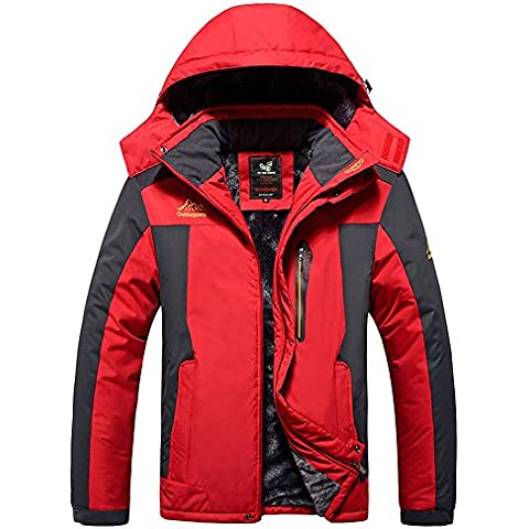 Esterna Impermeabile Mountain Jacket Giacca In Pile Antivento Sci Lega