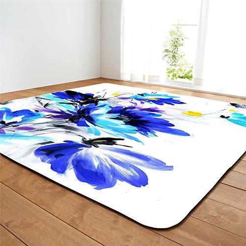 Teppich Wohnzimmer Minimalistischen Mehrfarbige Kunstblumen Hause Schlafzimmer Verdickung Waschbar (Teppich 12,147x203cm) ()