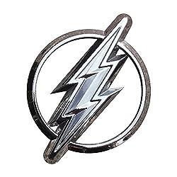 Fan Emblems Das Flash-Logo 3D-Auto-Emblem Chrom, DC Comics Justice League Automobil-Aufkleber Abzeichen haftet voll auf Autos, Lastwagen, Motorrädern, Laptops, Fenstern usw.