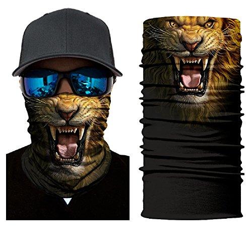 ShopINess Pañuelo bandana multiuso para deportes Outdoor (Lion)