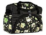BABYLUX Wickeltasche Kinderwagentasche mit Wickelunterlage für Windeln Flaschen für Kinderwagen (37. Braun + Eule Braun)
