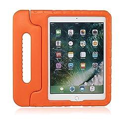"""Brand.it Learn.it - Kinder iPad Hülle, stoßfest I für Apple iPad Air 2/Air 1/9,7"""" 2017/2018 (5. / 6. Generation) I aus Eva-Schaum, kindersicher und robust I Kinderschutzhülle orange"""
