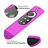 OEAGO Silicone [Anti Slip] Shock Proof Cover Case for All-New Fire TV with 4K Alexa Voice Remote (2017 Edition) (2nd Gen) / Fire TV Stick Alexa Voice Remote (Purple)