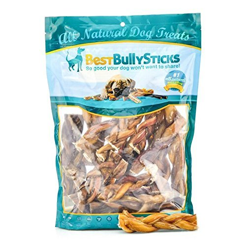 All-Natural 4-5 Inch Braided Bully Sticks by Best Bully Sticks (1 Pound) by Best Bully Sticks -
