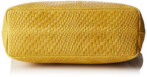 Chicca Borse 80060, Borsa a Mano Donna, 40x34x10 cm (W x H x L) Giallo