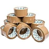 pakit 12marrón cinta de embalaje rollos Value Pack | 12rollos de Heavy Duty Grado Comercial, 1,88pulgadas x 72m (48mm x 66m) claro cinta para embalaje, boxeo, movimiento y envío