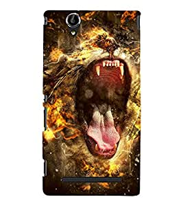 ROARING LION Designer Back Case Cover for Sony Xperia T2 Ultra::Sony Xperia T2 Ultra Dual