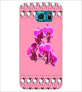 PrintDhaba Flowers D-3883 Back Case Cover for SAMSUNG GALAXY S6 EDGE (Multi-Coloured)