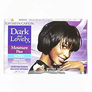 Dark and Lovely Kit Défrisant sans Soude Soin Démêlant Intense Moyen Moisture plus au Beurre de Karité 359ml