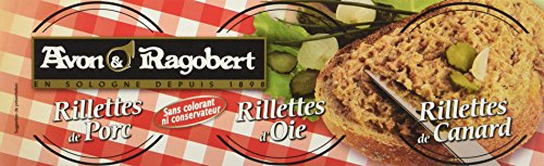 Avon & Ragobert Etui 3 Rillettes Oie/Canard/Porc 234 g - Lot de 4