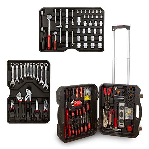 hanSe® Werkzeugkoffer Blowcase Xxl Werkzeugtrolley gefüllt Werkzeugkasten Werkzeugkiste Heimwerker Werkzeugset -