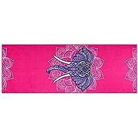 Preisvergleich für Yogamatte LXF Anti-Rutsch-Yoga Mat Shop Towel Sport Strand Handtuch gedruckt Fitness Sweat-absorbierende Handtuch Leichte und tragbare Schweißabsorption