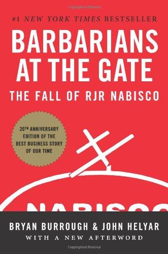 Buchseite und Rezensionen zu 'Barbarians at the Gate: The Fall of RJR Nabisco' von Bryan Burrough