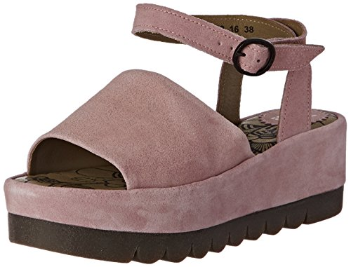 FLY London BOOZ636FLY Damen Durchgängies Plateau Sandalen Pink (pink 008)