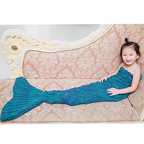 Motif Costume Mermaid - Queue de sirène couverture à tricoter Motif