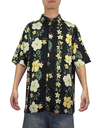 Hawaiian à manches courtes pour homme 100%  soie entrepôt chemise Multicolore - Multicolore