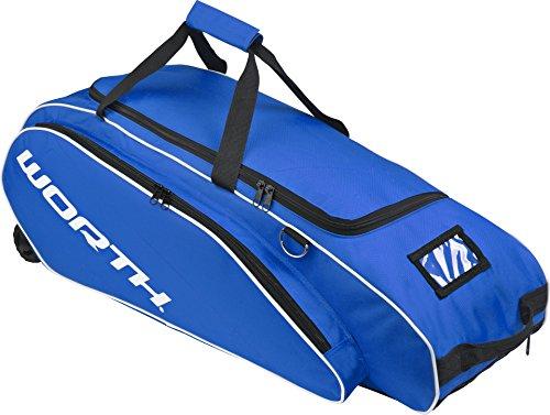 Worth Baseball-Softball Ausrüstungs tasche mit Rädern - Blau -