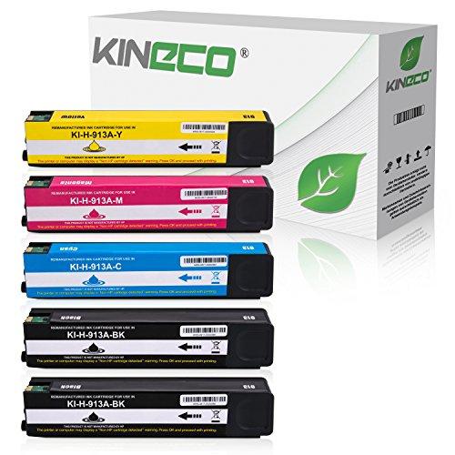 Preisvergleich Produktbild Kineco 5 Tintenpatronen kompatibel zu HP 913A für HP Pagewide 352dw Pro 452dn 452dw 452dwt