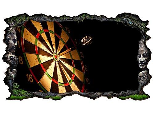 3D Wandtattoo Sport Dart Pfeil Dartscheibe Bild selbstklebend Wandbild sticker Wohnzimmer Wand Aufkleber 11H115, Wandbild Größe F:ca. 140cmx82cm