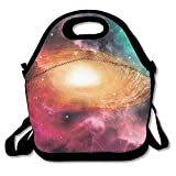 VTXWL Colorful Astronomy Pictures of A Spiral Galaxy Stars and Stardust Lunch Tote Lunch Bag School Mid-Sized