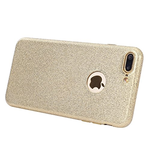 Cover iPhone 7 Plus,Custodia iPhone 7 Plus,ikasus® Crystal Clear TPU con Cristallo di lusso di Bling di scintillio lucido diamante scintilla Custodia Cover per iPhone 7 Plus Custodia Cover [Crystal TP Oro