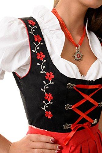 Almwerk Dirndl Mascha 3-tlg. in verschiedenen Farben Rot
