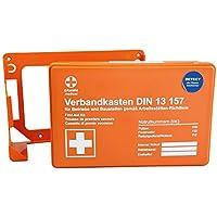 Verbandskasten, Erste-Hilfe-Kasten- MINI DETECT, Rot-Kreuz-Kasten, DIN 13157, orange, detektierbar, mit Wandhalterung preisvergleich bei billige-tabletten.eu