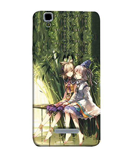 Printfidaa Animated Friendly Girls Print Designer Back Cover for YU Yureka, YU Yureka AO5510