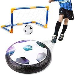 amzdeal Air Football Kit Juguete Balón de Fútbol(1 x Air Hover Ball+1 Mini Soccer +1 Goal de Fútbol +1 Aguja de Gas) Aire Fútbol